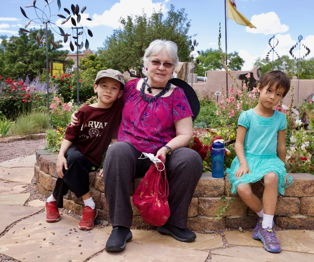 Kai Benson, Carol Benson (Nana), and Heidi Benson in Santa Fe, New Mexico